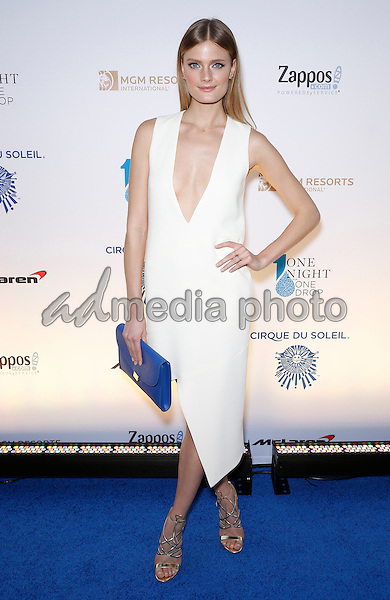 18 March 2016 - Las Vegas, Nevada - Constance Jablonski. Cirque Du Soleil presents star-studded blue carpet at Fourth Annual One Night for ONE DROP at the Cleveland Clinic Lou Ruvo Center for Brain Health. Photo Credit: MJT/AdMedia