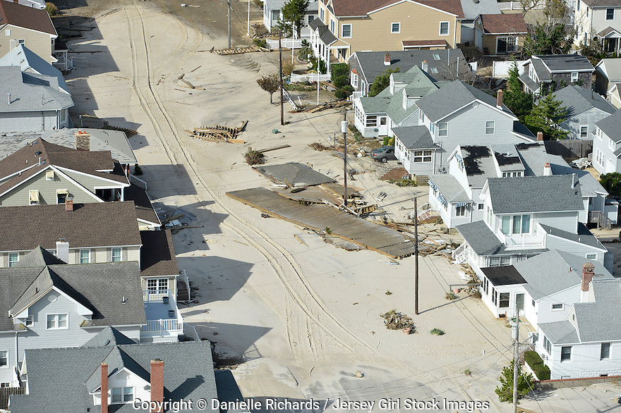 11/1/12 - Aftermath of  Hurricane Sandy in New Jersey.  Devastation left by Hurricane Sandy after it pummeled the New Jersey coast.  Especially hard-hit was the area in and around Orley Beach.  Danielle Richards / Jersey Girl Stock Images
