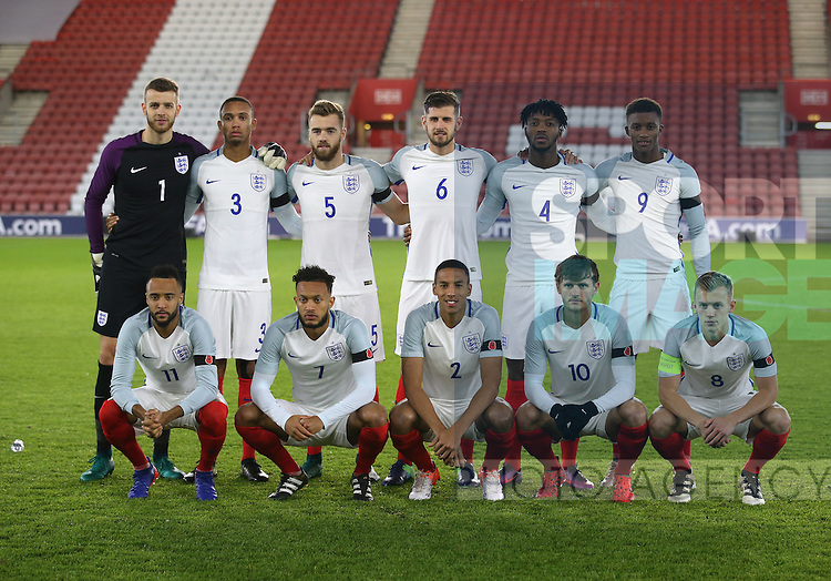 England's team group during the Under 21 International Friendly match at the St Mary's Stadium, Southampton. Picture date November 10th, 2016 Pic David Klein/Sportimage