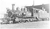 3/4 fireman's-side view of D&amp;RGW #375 at Durango roundhouse.<br /> D&amp;RGW  Durango, CO  Taken by Best, Gerald M. - 7/30/1938