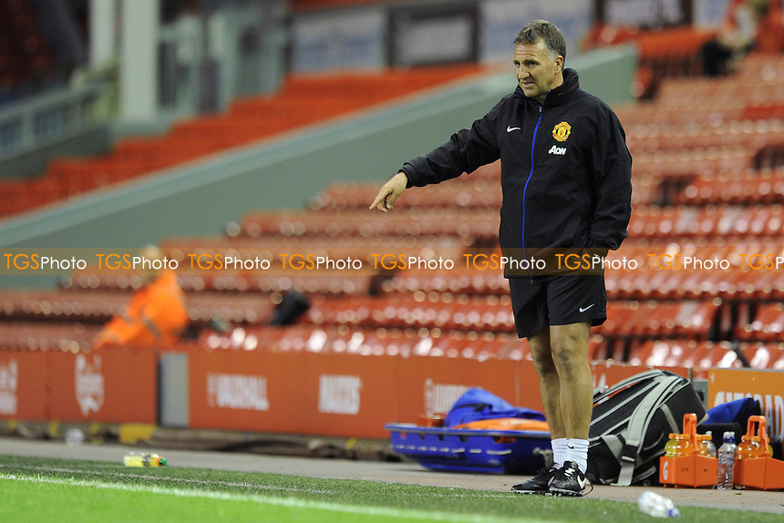 Manchester United U21 manager Warren Joyce - Liverpool Under-21 vs Manchester United Under-21 - Barclays Under-21 Premier League Football at Anfield, Liverpool - 02/05/14 - MANDATORY CREDIT: Greig Bertram/TGSPHOTO - Self billing applies where appropriate - 0845 094 6026 - contact@tgsphoto.co.uk - NO UNPAID USE