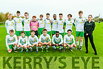 Kerry U/!6 Soccer Team : Front : Bernard O'Callaghan, Ronan O'Shea, James Sheehan, Padraigh McCannon, Leon Shalemba & Paddy O'Rourke. Back : Sebastin Vasiu, Darragh O'Leary, Conor Carmody, Alex O'Connor, Jordan Barry, David Rogers, J. R. Tshikoto, Nil Torne, Killian Foley, James Rusk & Laura Murphy from Subway.