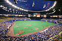 CIRCA 1980's:  General view overall of Olympic Stadium in Montreal, Canada, home of the Montreal Expos. (Photo by: 1980 : SportPics : Olympic Stadium