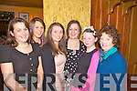 Enjoying Little Christmas in Leen's Hotel, Abbeyfeale, last Thursday night was Duagh ladies  Martina McAuliffe, Edel Murphy, Nonnie Cronin, Bridget, Muireann and Ann McAuliffe from Duagh.