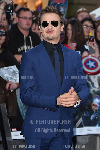 """Jeremy Renner arrives for the """"Avengers: Age of Ultron"""" European premiere at the Vue cinema, Westfield London. 21/04/2015 Picture by: Steve Vas / Featureflash"""