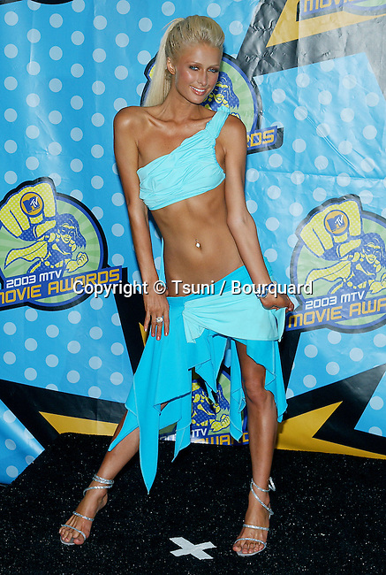 Paris Hilton at the MTV Movie Awards at the Shrine Auditorium in Los Angeles. May 31, 2003