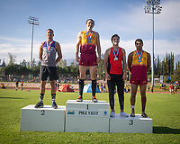 Zach Greenleaf '19 tied for 3rd in the pole vault<br /> The Occidental College men's and women's track and field teams compete in the 2019 Southern California Intercollegiate Athletic Conference (SCIAC) Track and Field Championships at the Claremont-Mudd-Scripps Burns Track Complex in Claremont, Calif. on Sunday, April 28, 2019.<br /> After the two-day SCIAC Championships CMS scored 211.50 points, followed by Pomona-Pitzer (171.50), Redlands (114), Occidental (92.50), Whittier (57.50), La Verne (54), Cal Lutheran (48), Chapman (23) and Caltech (4).