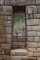 "Machu Picchu, the ancient ""lost city of the Incas"", 1400 CA, 2400 meters. Discovered by Hiram Bingham in 1911. One of Peru's top tourist destinations."