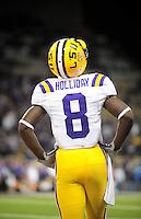 Sept. 5, 2009; Seattle, WA, USA; LSU Tigers wide receiver (8) Trindon Holliday against the Washington Huskies at Husky Stadium. LSU defeated Washington 31-23. Mandatory Credit: Mark J. Rebilas-