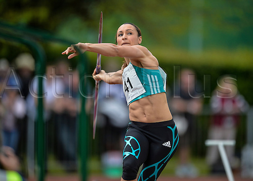 22.05.2016. Paula Radcliffe Athletics Stadium, Loughborough, England. Loughborough International Athletics. Jess Ennis-Hill competing in the womens Javelin.