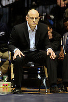 STATE COLLEGE, PA - FEBRUARY 16: Head coach Cael Sanderson of the Penn State Nittany Lions during a match against the Oklahoma State Cowboys on February 16, 2014 at Rec Hall on the campus of Penn State University in State College, Pennsylvania. Penn State won 23-12. (Photo by Hunter Martin/Getty Images) *** Local Caption *** Cael Sanderson