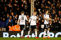 GOAL - Tom Cairney of Fulham FC celebrates his goal during the Sky Bet Championship match between Fulham and Sheff United at Craven Cottage, London, England on 6 March 2018. Photo by Carlton Myrie.
