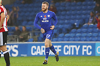 Aron Gunnarsson of Cardiff City returns to action after spell being injured during the Sky Bet Championship match between Cardiff City and Brentford at the Cardiff City Stadium, Wales, UK. Saturday 18 November 2017