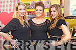 Pictured at the Friday Night Live with Amanda Brunker event in CH Chemist on Friday night, from left: Joanne O?Connell, Emma Cullinane and Stephanie Ruane..