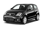 Front three quarter view of a 2008 - 2009 Citroen C2 VTR 3 Door Hatchback 2WD Stock Photo