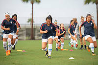 Lakewood Ranch, FL - Wednesday, October 10, 2018:   USWNT warmup prior to a U-17 USWNT match against Colombia.  The U-17 USWNT defeated Colombia 4-1.