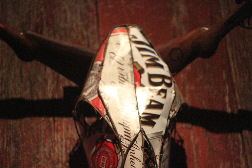 Jim Beam oxen skeleton head
