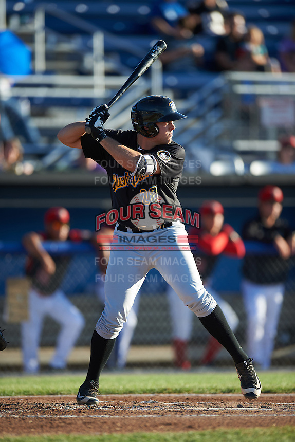 West Virginia Black Bears third baseman Will Craig (28) at bat during a game against the Batavia Muckdogs on June 30, 2016 at Dwyer Stadium in Batavia, New York.  Batavia defeated West Virginia 4-3.  (Mike Janes/Four Seam Images)