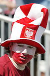 12 July 2007: Poland fan. Argentina's Under-20 Men's National Team defeated Poland's Under-20 Men's National Team 3-1 in a  round of 16 match at the National Soccer Stadium (also known as BMO Field) in Toronto, Ontario, Canada during the FIFA U-20 World Cup Canada 2007 tournament.