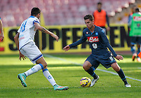 Jorginho    in action during the Italian Serie A soccer match between   SSC Napoli and Empolii    at San Paolo   stadium in Naples , December 07, 2014