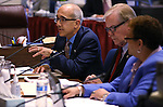 Nevada Senate Democrats, from left, Mo Denis, David Parks and Pat Spearman present an alternative tax plan in a hearing at the Legislative Building in Carson City, Nev., on Tuesday, March 24, 2015.<br /> Photo by Cathleen Allison