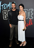 Stefan Kapicic &amp; Ivana Horvat at the premiere for &quot;Atomic Blonde&quot; at The Theatre at Ace Hotel, Los Angeles, USA 24 July  2017<br /> Picture: Paul Smith/Featureflash/SilverHub 0208 004 5359 sales@silverhubmedia.com