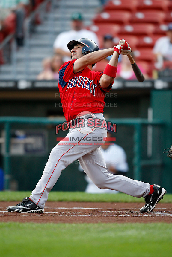 July 28, 2009:  Jeff Natale of the Pawtucket Red Sox during a game at Coca-Cola Field in Buffalo, NY.  Pawtucket is the International League Triple-A affiliate of the Boston Red Sox.  Photo By Mike Janes/Four Seam Images