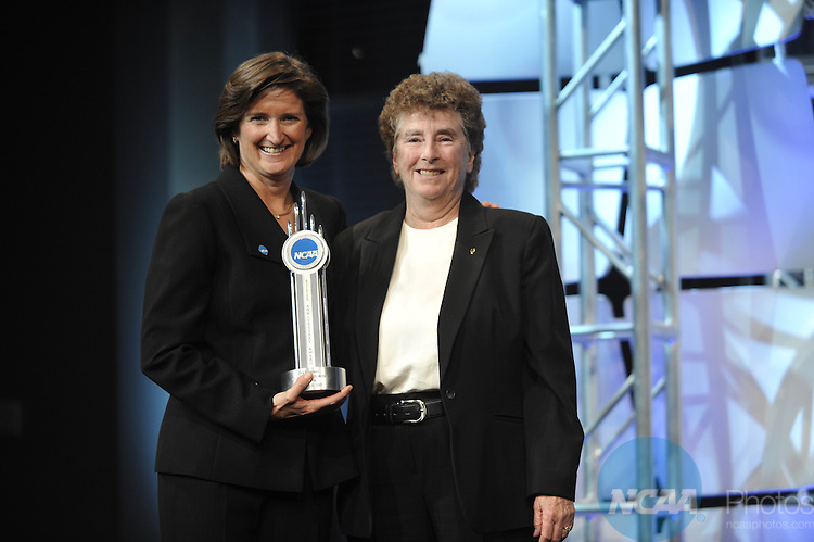 14 JAN 2010: Honorees and guests participate in the 2010 NCAA Honors Celebration at the 2010 NCAA Convention held at the Marriott Marquis and the Hyatt Regency in Atlanta, GA. Stephen Nowland/NCAA Photos.Pictured: Deb Richard.