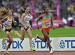 Besu Sado (ETH) leads Laura Muir (GBR) in the womens 1500m heats. IAAF World athletics championships. London Olympic stadium. Queen Elizabeth Olympic park. Stratford. London. UK. 04/08/2017. ~ MANDATORY CREDIT Garry Bowden/SIPPA - NO UNAUTHORISED USE - +44 7837 394578