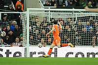 Danny Hylton of Luton Town celebrates scoring for Luton Town during Newcastle United vs Luton Town, Emirates FA Cup Football at St. James' Park on 6th January 2018