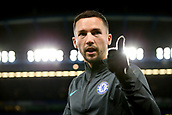 5th December 2017, Stamford Bridge, London, England; UEFA Champions League football, Chelsea versus Atletico Madrid; Danny Drinkwater of Chelsea giving the thumbs up to Chelsea fans before kick off