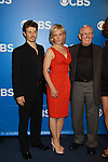 Blue Bloods Will Estes, Amy Carlson, Len Cariou - CBS Upfront 2012 at the Tent in Lincoln Center, New York City, New York. (Photo by Sue Coflin/Max Photos)