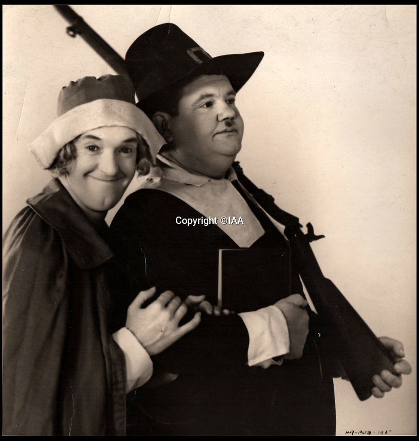 BNPS.co.uk (01202 558833)<br /> Pic: IAA/BNPS<br /> <br /> Stan sent Ted this picture in 1930 when Stan & Ollie were at the height of there fame.<br />  <br /> Heart-warming letters and photos Stan Laurel sent his first comedy sidekick who he stayed friends with after forming his iconic double-act with Oliver Hardy have emerged.<br /> <br /> Ted Desmond and Laurel, known then by his real name Stan Jefferson, briefly worked together on tour in Netherlands and Belgium in 1912 but they parted ways when Laurel was offered a spot in an American touring troupe.<br /> <br /> It would have been easy for Laurel to forget his first, short-lived sidekick, or for Ted to have been jealous of his success with another comic.<br /> <br /> But, touchingly, they remained firm friends and Laurel sent Ted and his wife Gertrude various letters and photos over the next 40 years.