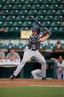 Tampa Yankees center fielder Jeff Hendrix (31) at bat during the second game of a doubleheader against the Bradenton Marauders on June 14, 2017 at LECOM Park in Bradenton, Florida.  Tampa defeated Bradenton 5-1.  (Mike Janes/Four Seam Images)