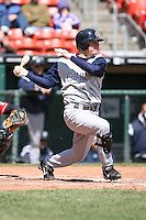 May 5th 2008:  Second baseman Chris Getz of the Charlotte Knights, Class-AAA affiliate of the Chicago White Sox, during a game at Dunn Tire Park in Buffalo, NY.  Photo by Mike Janes/Four Seam Images