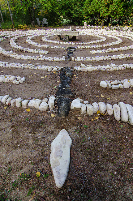 At the Clearing Fold School in Door County is a labyrinth for folks to wander, follow the path and contemplate their day.