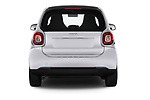Straight rear view of 2017 Smart fortwo prime 3 Door micro car stock images
