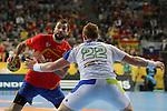 Cañellas vs Gaber. SPAIN vs SLOVENIA: 26-22 - Semifinal.