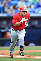 Washington Nationals catcher Wilson Ramos (40) during a spring training game against the New York Mets on March 27, 2014 at Tradition Field in St. Lucie, Florida.  Washington defeated New York 4-0.  (Mike Janes/Four Seam Images)