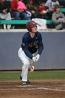 Nathan Keavy (2) of the Loyola Marymount Lions bats against the Washington State Cougars at Page Stadium on February 26, 2017 in Los Angeles, California. Loyola defeated Washington State, 7-4. (Larry Goren/Four Seam Images)