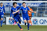 Ulsan Hyundai Forward Kim Insung (R) celebrating his score with teammates during the AFC Champions League 2017 Group E match between Ulsan Hyundai FC (KOR) vs Brisbane Roar (AUS) at the Ulsan Munsu Football Stadium on 28 February 2017 in Ulsan, South Korea. Photo by Victor Fraile / Power Sport Images