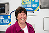 Louise Baldock, Parliamentary Candidate Stockton South, People's March for the NHS, Darlington 2014