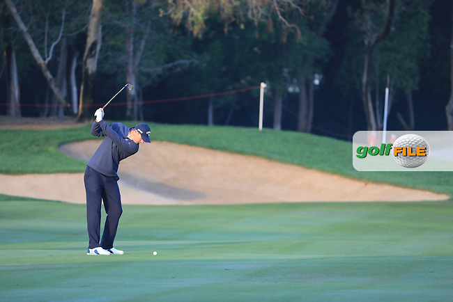 Nicolas Colsaerts (BEL) on the 11th during the 1st round of the Abu Dhabi HSBC Championship, Abu Dhabi Golf Club, Abu Dhabi,  United Arab Emirates. 19/01/2017<br /> Picture: Golffile | Fran Caffrey<br /> <br /> <br /> All photo usage must carry mandatory copyright credit (&copy; Golffile | Fran Caffrey)