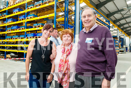 Lisa Kelly, Noreen Stokes and Ned Harty (Dairymaster), pictured a tour of Dairymaster on Sunday last.