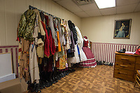 NWA Democrat-Gazette/ANTHONY REYES • @NWATONYR<br /> The costume shop inside the Elm Springs Historical Society Monday, March 21, 2016 inside their 100-year-old building. Exhibits include colonial period, ozark life, costumes and civil war pieces. Across the street from the building is land that will become a park where they have evidence thousands of civil war troops once camped.