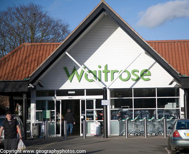 Waitrose shop, Saxmundham, Suffolk, England