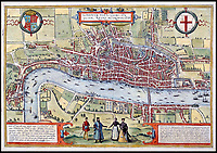 Tudor map of London emerges.