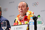 Fernando Aguerre, <br /> AUGUST 3, 2016 : <br /> Press conference about Additional Event Programme for Tokyo 2020 after the 129th International Olympic Committee session <br /> during the Rio 2016 Olympic Games <br /> in Rio de Janeiro, Brazil. Softball/Baseball, Karate, Skateboarding, Surfing and Sports Climbing were added to the list of sports for Tokyo 2020. <br /> (Photo by Yohei Osada/AFLO SPORT)