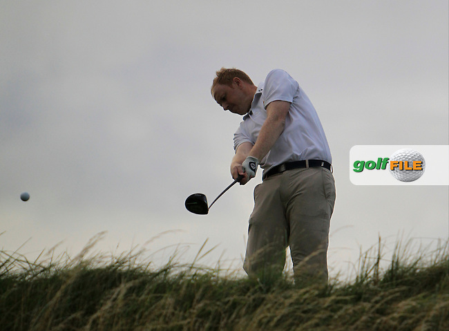 Bryn McSweeney (The Royal Dublin) on the 18th tee during the South of Ireland Amateur Open Championship 4th Round at Lahinch Golf Club  29th July 2013 <br /> Picture:  Thos Caffrey / www.golffile.ie