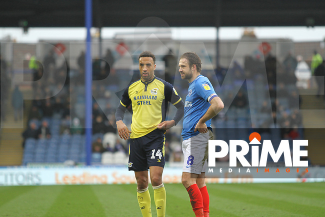 James Perch (Scunthorpe United) during the Sky Bet League 1 match between Portsmouth and Scunthorpe United at Fratton Park, Portsmouth, England on 16 March 2019. Photo by James  Gill / PRiME Media Images.